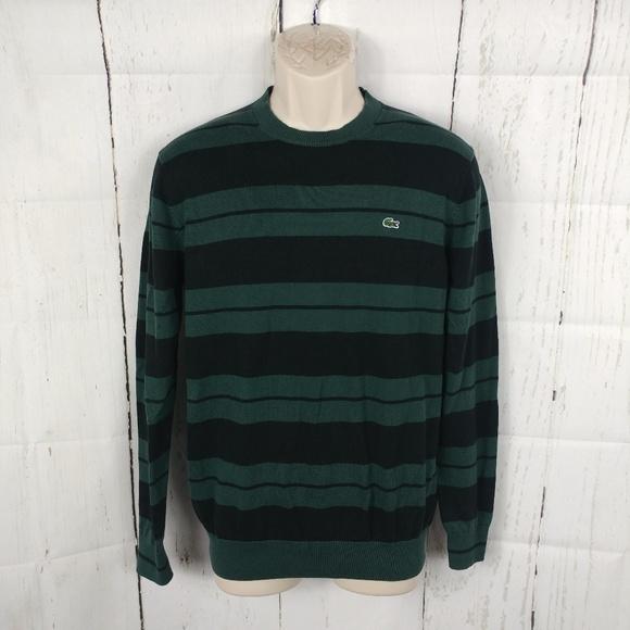 e4007676c1bd Lacoste Other - Men s Lacoste Green Black Striped Sweater